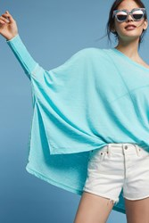 Anthropologie Bela Burnout Pullover Turquoise