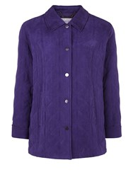 Eastex Classic Diamond Quilt Raincoat Purple
