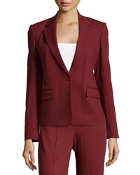 Theory Gabe N Edition Wool Blend Suit Jacket Brick