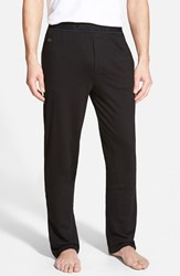 Men's Lacoste Pique Lounge Pants Black