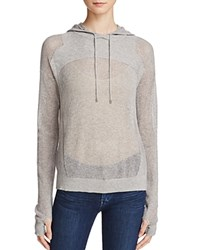 One Grey Day Storm Open Knit Hooded Sweater Grey