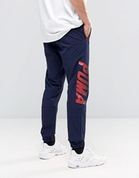 Puma Speed Font Woven Joggers In Blue 57161008 Blue