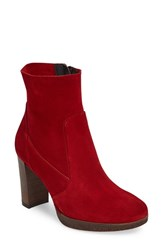Paul Green Women's Misty Platform Bootie Red Suede