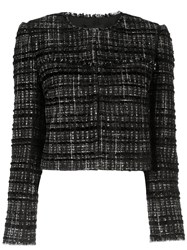 Paule Ka Tweed Check Blazer Black