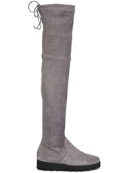 Pretty Ballerinas Over The Knee Boots Grey