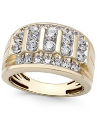 Macy's Men's Diamond Elevated Cluster Ring 2 Ct. T.W. In 10K Gold White