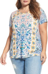 Lucky Brand Plus Size Women's Placed Print Tee