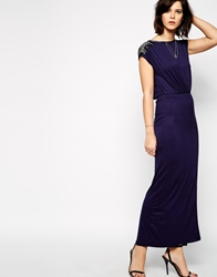 Rock And Religion Madeline Embellished Jersey Maxi Dress Navy