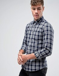 Jack And Jones Flannel Check Shirt White
