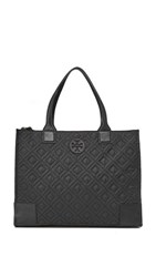 Tory Burch Ella Quilted Tote Black