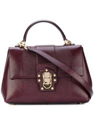 Dolce And Gabbana Lucia Satchel Women Calf Leather One Size Red