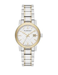 Burberry Ladies Two Tone Bracelet Band Watch