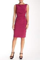 Single Dress Sleeveless Rouched Dress Purple