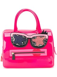 Furla 'Candy Gang Boston' Tote Pink Purple