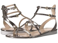 Cole Haan Original Grand Gladiator Sandal Pewter Metallic Leather Women's Shoes