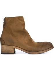 Marsell 'Listo' Back Zip Ankle Boots Brown
