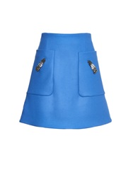 Rochas Glove Embellished Wool Blend Mini Skirt