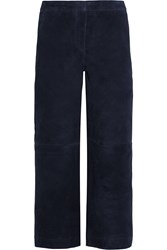J.Crew Collection Cropped Suede Wide Leg Pants