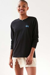 Stussy Basic Logo Long Sleeve Tee Black