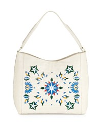 Nancy Gonzalez Laser Cut Taj Mahal Crocodile Hobo Bag Multi Multi Colors
