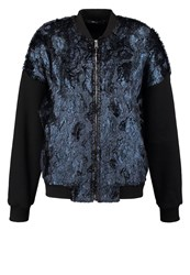 Replay Bomber Jacket Blue Metallic