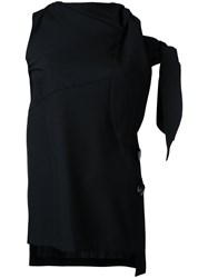 Eudon Choi Cold Shoulder Top Black