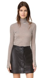 Rebecca Minkoff Minnie Top Black White Gold