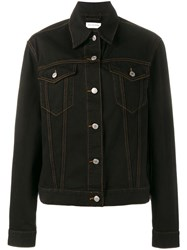Dries Van Noten Classic Denim Jacket Black
