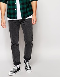Levi's Jeans 501 Customised Tapered Fit Bricklane Washed Out Black