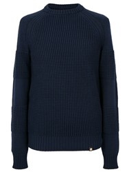 Pretty Green Flaxwood Crew Neck Sweater Navy