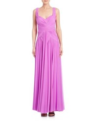 Mignon Ruched Chiffon Gown Orchid