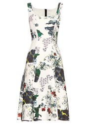 Erdem Tate Forget Me Not Print Neoprene Dress White Multi