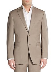 Saks Fifth Avenue Black Slim Fit Wool Sportcoat Tan