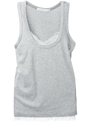 Sacai Luck Lace Cami Tank Top Grey