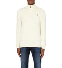 Ralph Lauren Cable Knit Silk Jumper Guide Cream