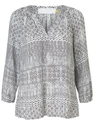 John Lewis Collection Weekend By Lavinia Tile Print Blouse Black Ivory Black Ivory