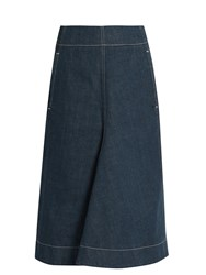 Christophe Lemaire A Line Denim Skirt Blue