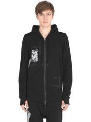 11 By Boris Bidjan Saberi Hooded Patched Zip Up Cotton Sweatshirt