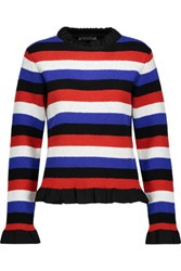 J.W.Anderson Ruffled Striped Boucle Sweater Multi