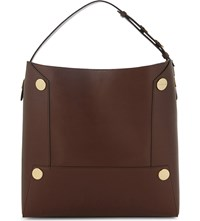 Stella Mccartney Oversized Faux Leather Tote Cognac