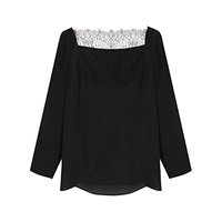 Gerard Darel Britney Lace Top Black