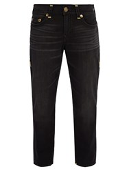 True Religion Contrast Stitched Jeans Black