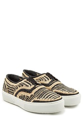 Robert Clergerie Raffia Sneakers Multicolor