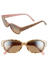 Women's Maui Jim 'Anini Beach' 53Mm Polarized Sunglasses Tortoise Blush Bronze