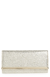 Jimmy Choo 'Milla' Glitter Wallet On A Chain Champagne