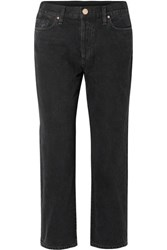 Gold Sign Goldsign The Low Slung Cropped Mid Rise Straight Leg Jeans Black