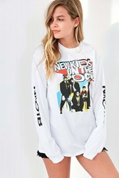 Urban Outfitters New Kids On The Block Long Sleeve Tee White