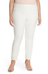 Plus Size Women's Halogen Skinny Stretch Twill Pants Ivory Cloud