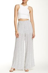 Romeo And Juliet Couture Stripe Wide Leg Pant White