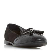 Head Over Heels Lumier Tassel Brogues Black